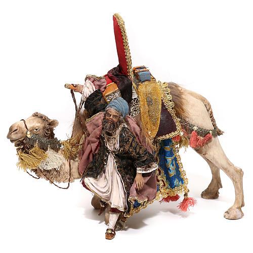 Nativity scene figurine, King getting off his camel by Angela Tripi 18 cm 1