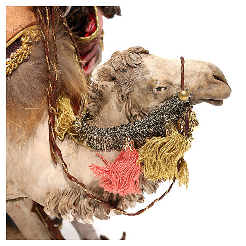Nativity scene figurine, King getting off his camel by Angela Tripi 18 cm 4