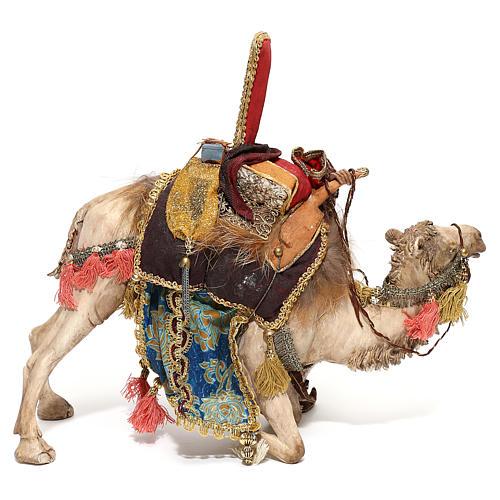 Nativity scene figurine, King getting off his camel by Angela Tripi 18 cm 7