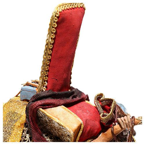 Nativity scene figurine, King getting off his camel by Angela Tripi 18 cm 8