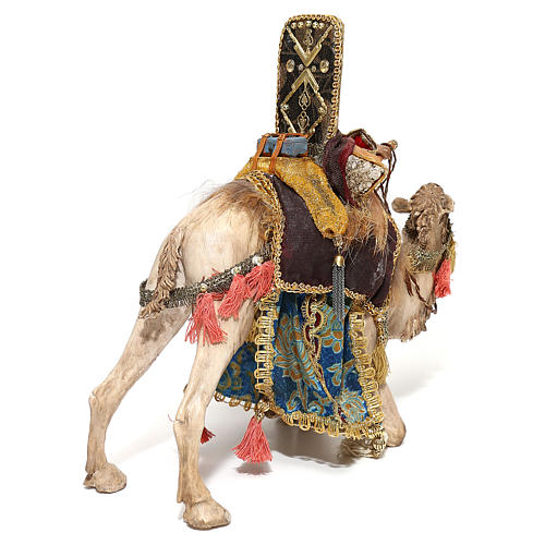 Nativity scene figurine, King getting off his camel by Angela Tripi 18 cm 9