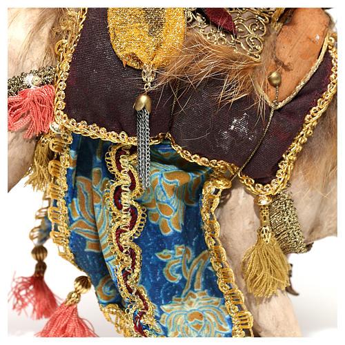 Nativity scene figurine, King getting off his camel by Angela Tripi 18 cm 10