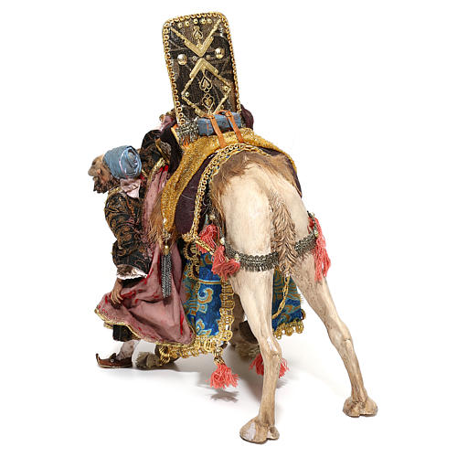 Nativity scene figurine, King getting off his camel by Angela Tripi 18 cm 11