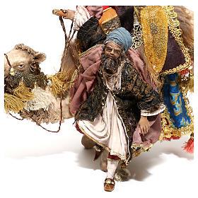 Re Magio che scende da cammello 18 cm A. Tripi s6
