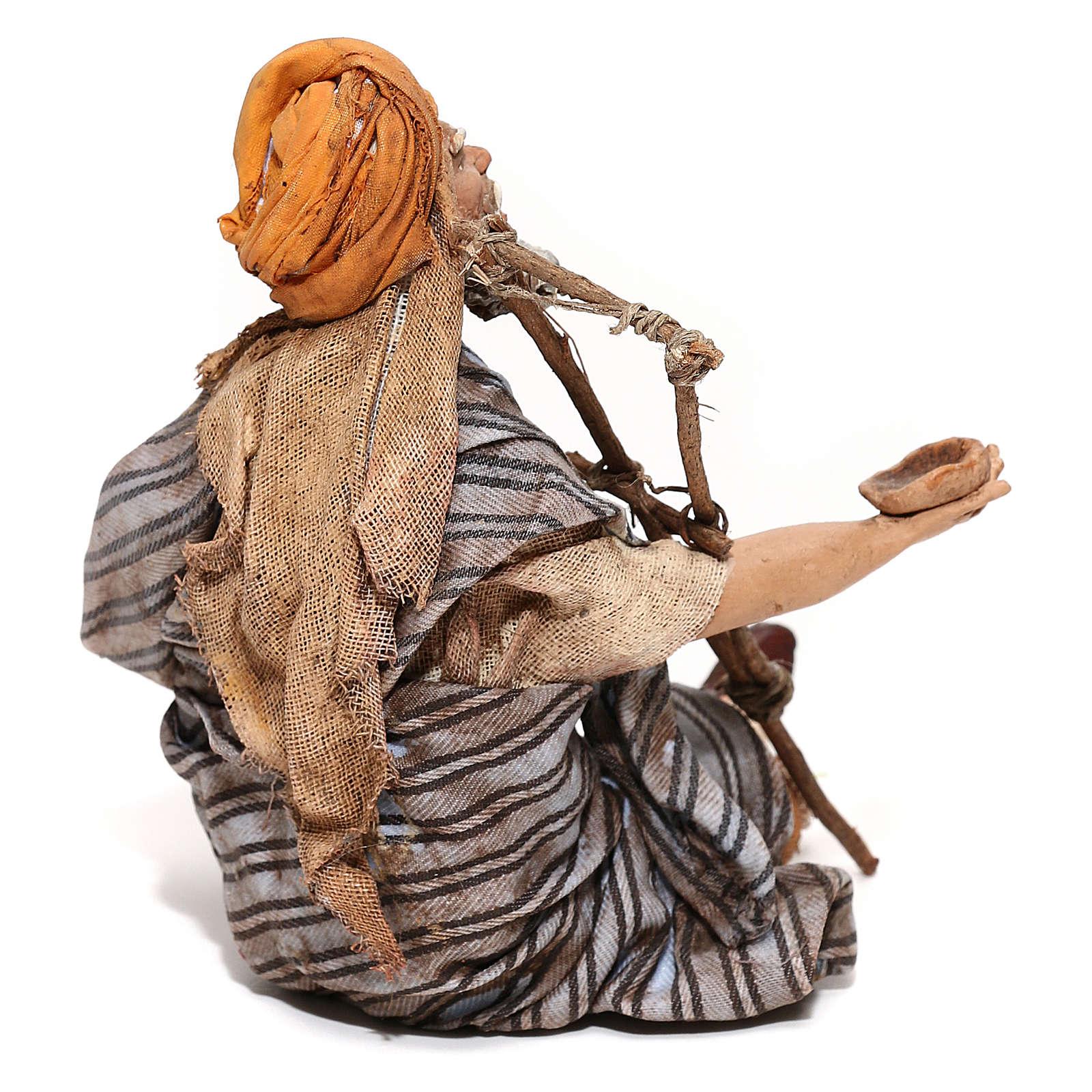 Mendicante seduto 18 cm Angela Tripi 4