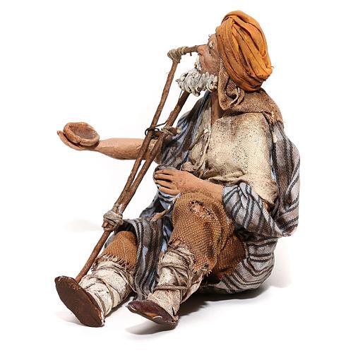 Mendicante seduto 18 cm Angela Tripi 3