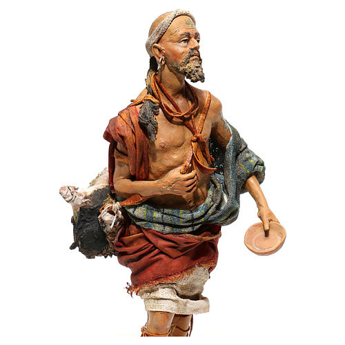 Nativity scene figurine, Standing traveler by Angela Tripi 18 cm 2