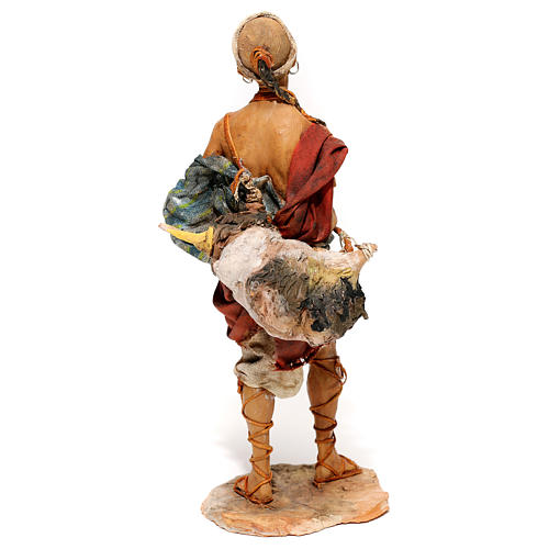 Nativity scene figurine, Standing traveler by Angela Tripi 18 cm 5