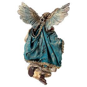 Nativity scene figurine, Angel with Gloria banner (to hang) by Angela Tripi 13 cm s5