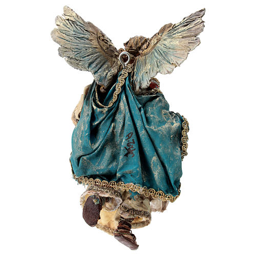 Nativity scene figurine, Angel with Gloria banner (to hang) by Angela Tripi 13 cm 5