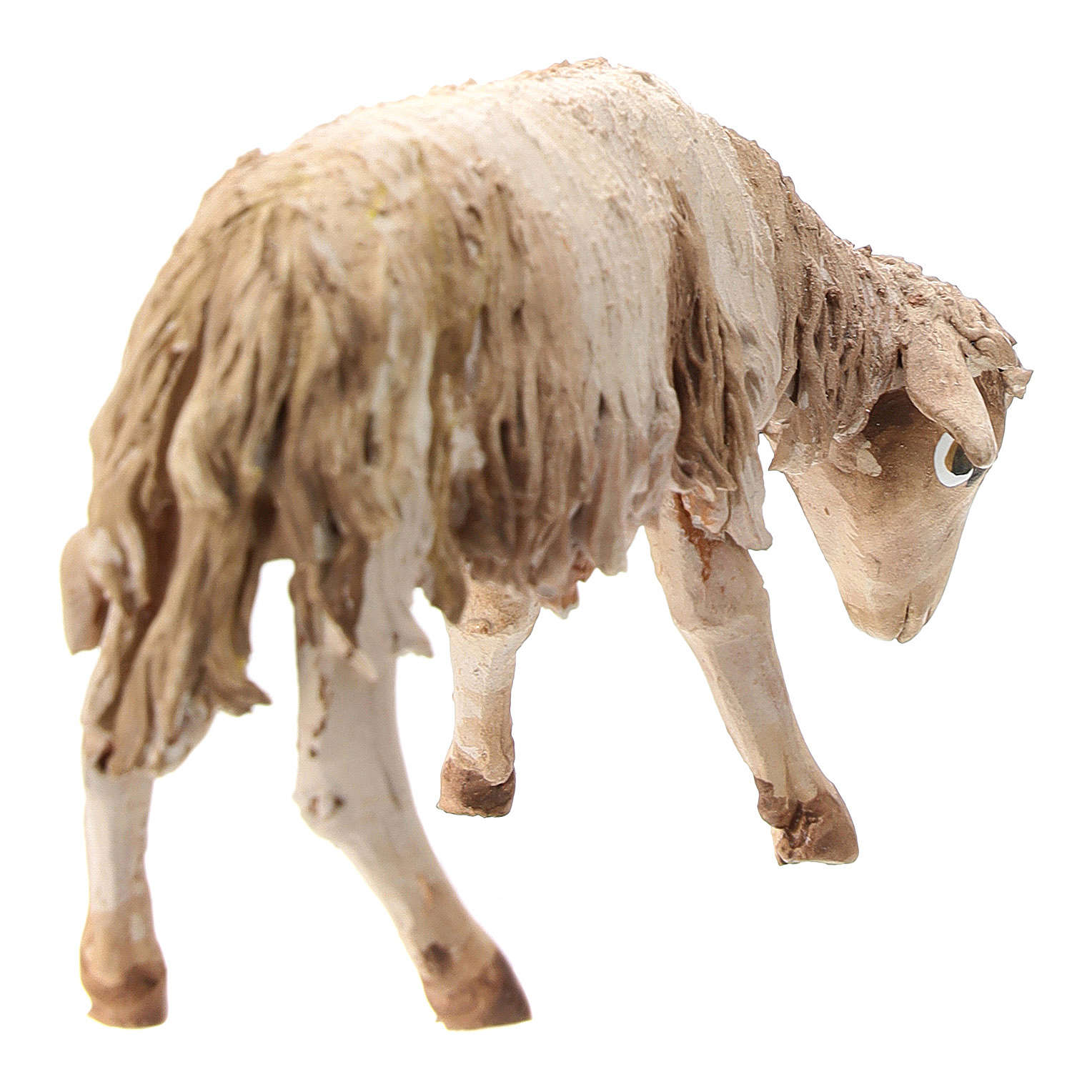 Nativity scene figurine, Sheep looking down by Angela Tripi 13 cm 4