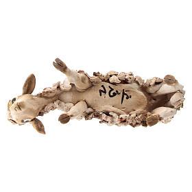 Nativity scene figurine, Sheep looking down by Angela Tripi 13 cm s5