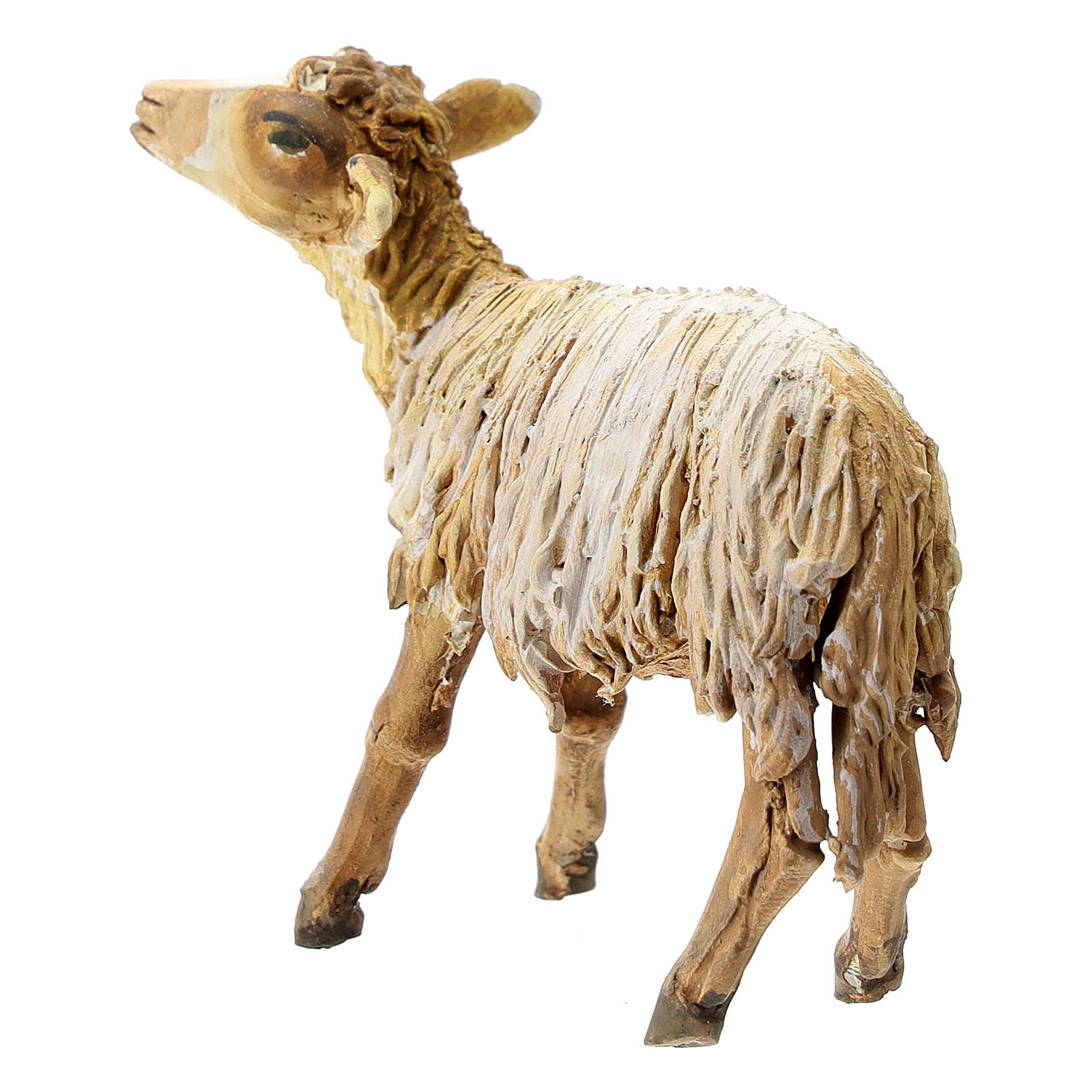 Nativity scene figurine, Sheep looking up by Angela Tripi 13 cm 4
