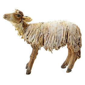 Nativity scene figurine, Sheep looking up by Angela Tripi 13 cm s1