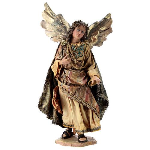 Nativity scene figurine, Angel messenger (standing) by Angela Tripi 13 cm 1