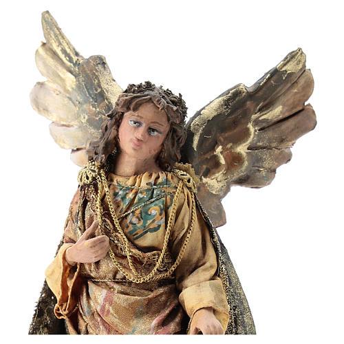 Nativity scene figurine, Angel messenger (standing) by Angela Tripi 13 cm 2