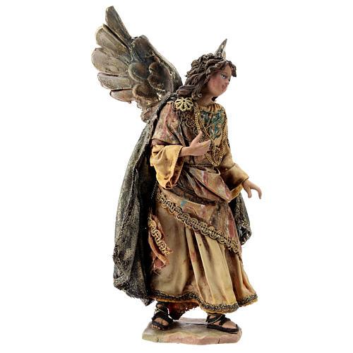 Nativity scene figurine, Angel messenger (standing) by Angela Tripi 13 cm 4