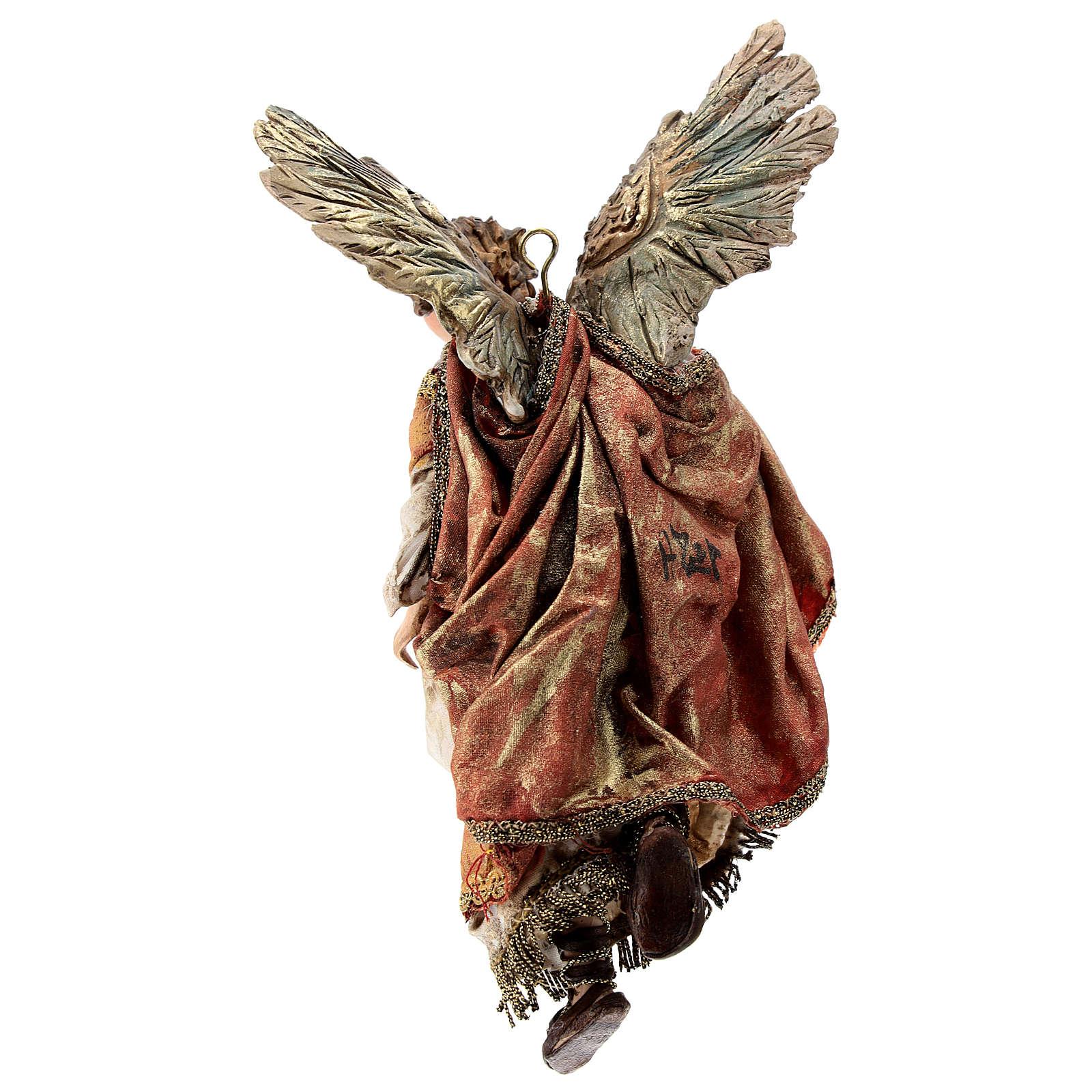 Angelo Gloria manto rosso 13 cm Angela Tripi 4