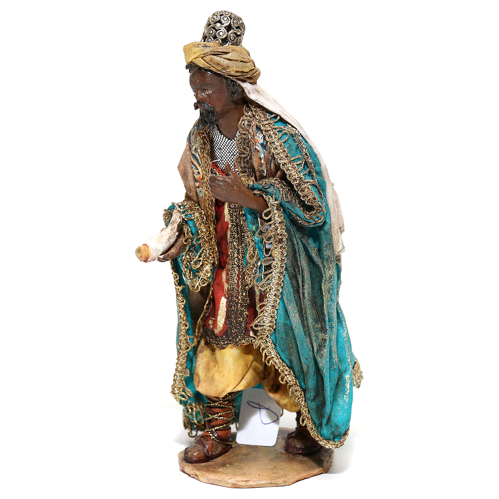 Nativity scene figurine, Dark-skinned King standing by Angela Tripi 13 cm 4