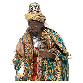 Nativity scene figurine, Dark-skinned King standing by Angela Tripi 13 cm s2