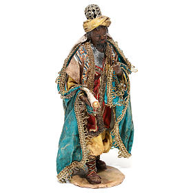 Nativity scene figurine, Dark-skinned King standing by Angela Tripi 13 cm s4