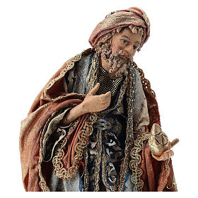 Nativity scene figurine, Standing King with gift by Angela Tripi 13 cm s2