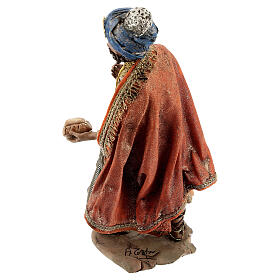 Nativity scene figurine, Standing King with gift by Angela Tripi 13 cm s6
