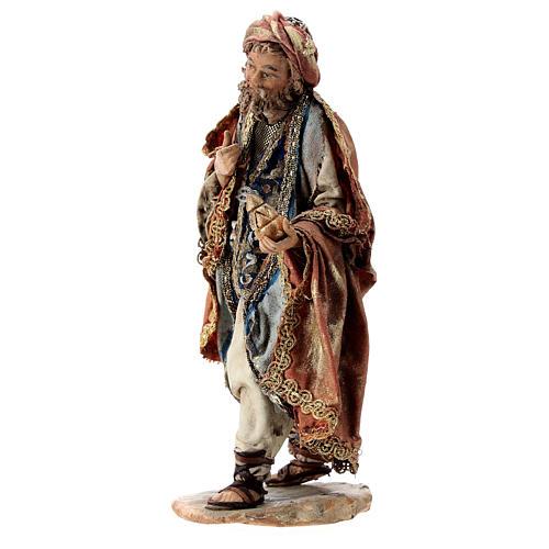 Nativity scene figurine, Standing King with gift by Angela Tripi 13 cm 3