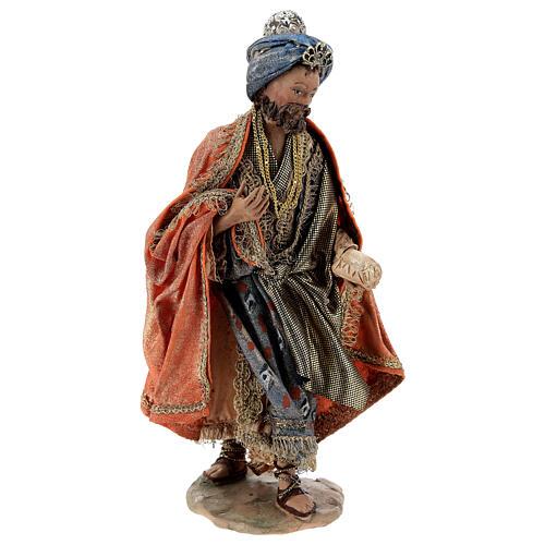 Nativity scene figurine, Standing King with gift by Angela Tripi 13 cm 1