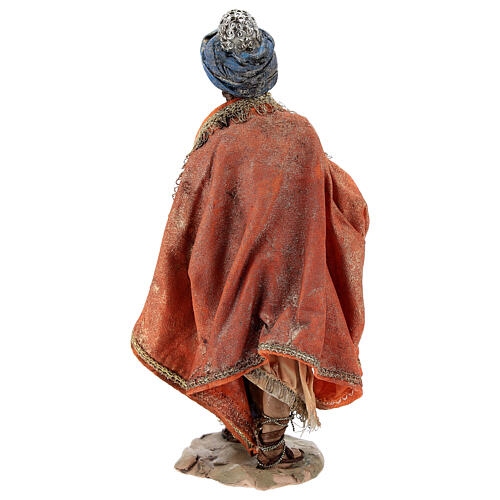 Nativity scene figurine, Standing King with gift by Angela Tripi 13 cm 5