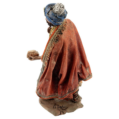 Nativity scene figurine, Standing King with gift by Angela Tripi 13 cm 6