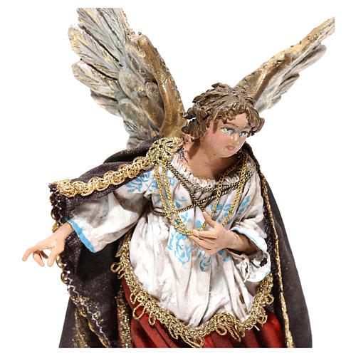 Nativity scene figurine, Angel messenger (to hang) by Angela Tripi 13 cm 2