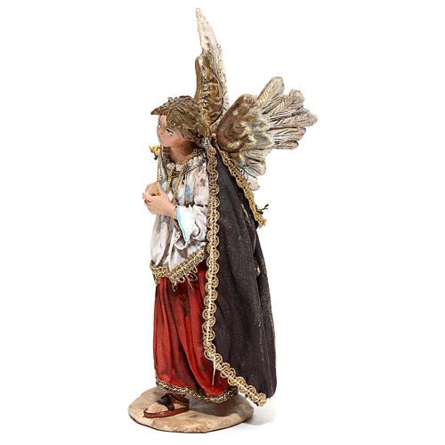 Nativity scene figurine, Angel messenger (to hang) by Angela Tripi 13 cm 4