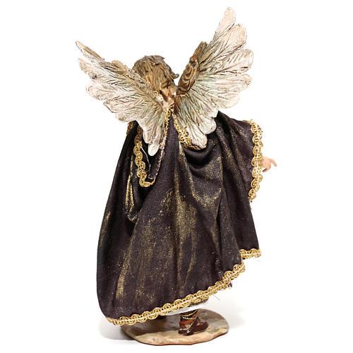 Nativity scene figurine, Angel messenger (to hang) by Angela Tripi 13 cm 5