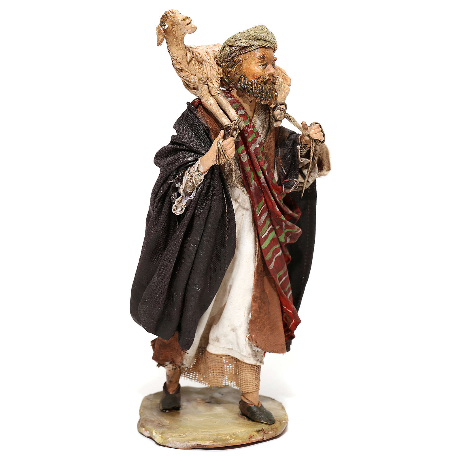 Pastore con pecora sulle spalle 13 cm Angela Tripi 4