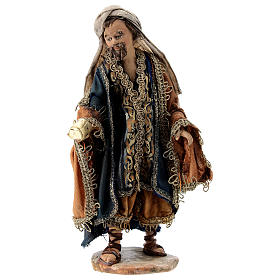 Nativity scene figurine, Magi King with coffer by Angela Tripi 13 cm s1