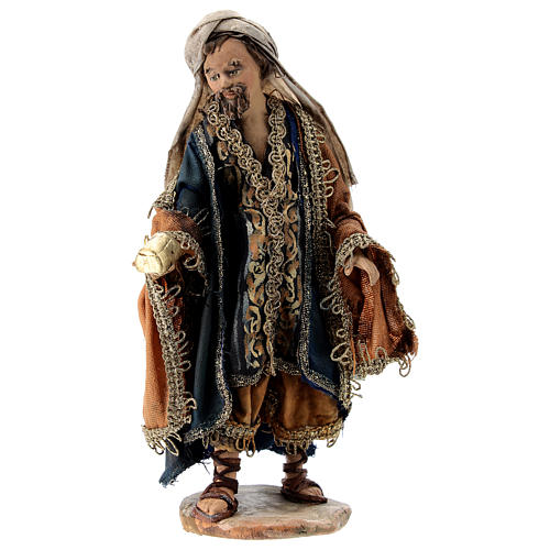 Nativity scene figurine, Magi King with coffer by Angela Tripi 13 cm 1