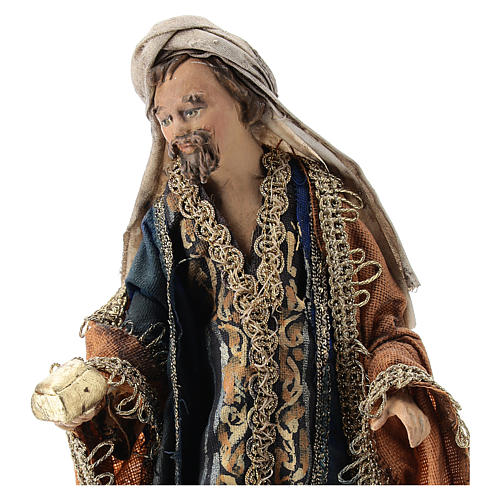 Nativity scene figurine, Magi King with coffer by Angela Tripi 13 cm 2