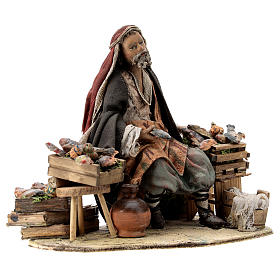 Nativity scene figurine, Fishmonger by Angela Tripi 13 cm s5