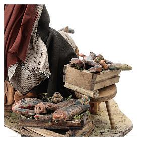 Nativity scene figurine, Fishmonger by Angela Tripi 13 cm s6