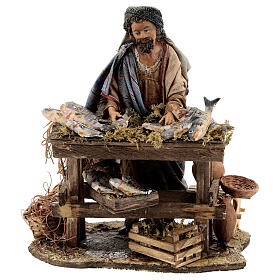 Nativity scene figurine, Fishmonger by Angela Tripi 13 cm s1
