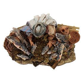 Nativity scene figurine, Fishmonger by Angela Tripi 13 cm s4