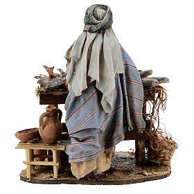 Nativity scene figurine, Fishmonger by Angela Tripi 13 cm s7