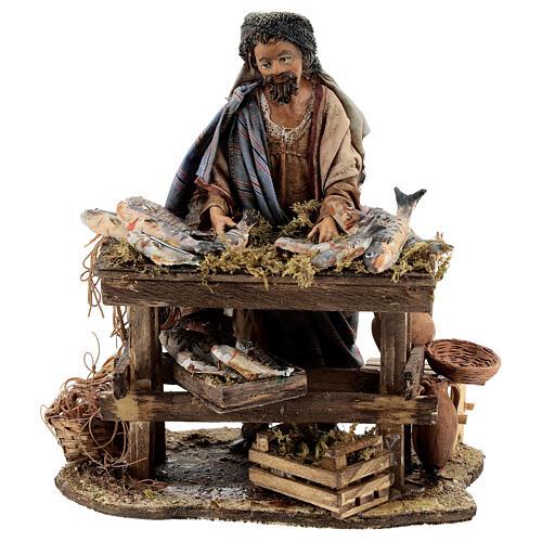Nativity scene figurine, Fishmonger by Angela Tripi 13 cm 1