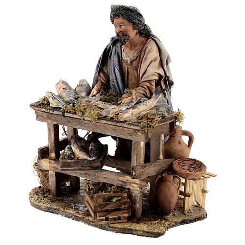 Nativity scene figurine, Fishmonger by Angela Tripi 13 cm 3