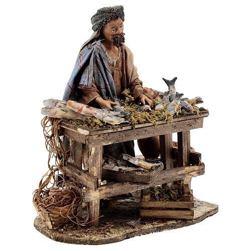 Nativity scene figurine, Fishmonger by Angela Tripi 13 cm 5