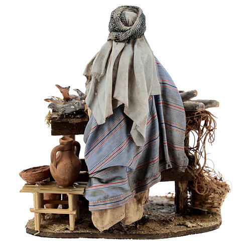 Nativity scene figurine, Fishmonger by Angela Tripi 13 cm 7