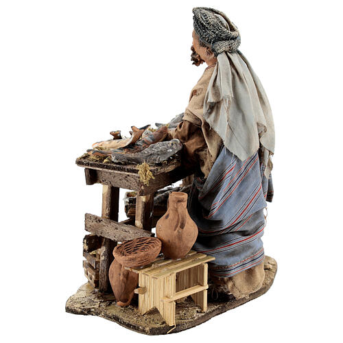 Nativity scene figurine, Fishmonger by Angela Tripi 13 cm 8
