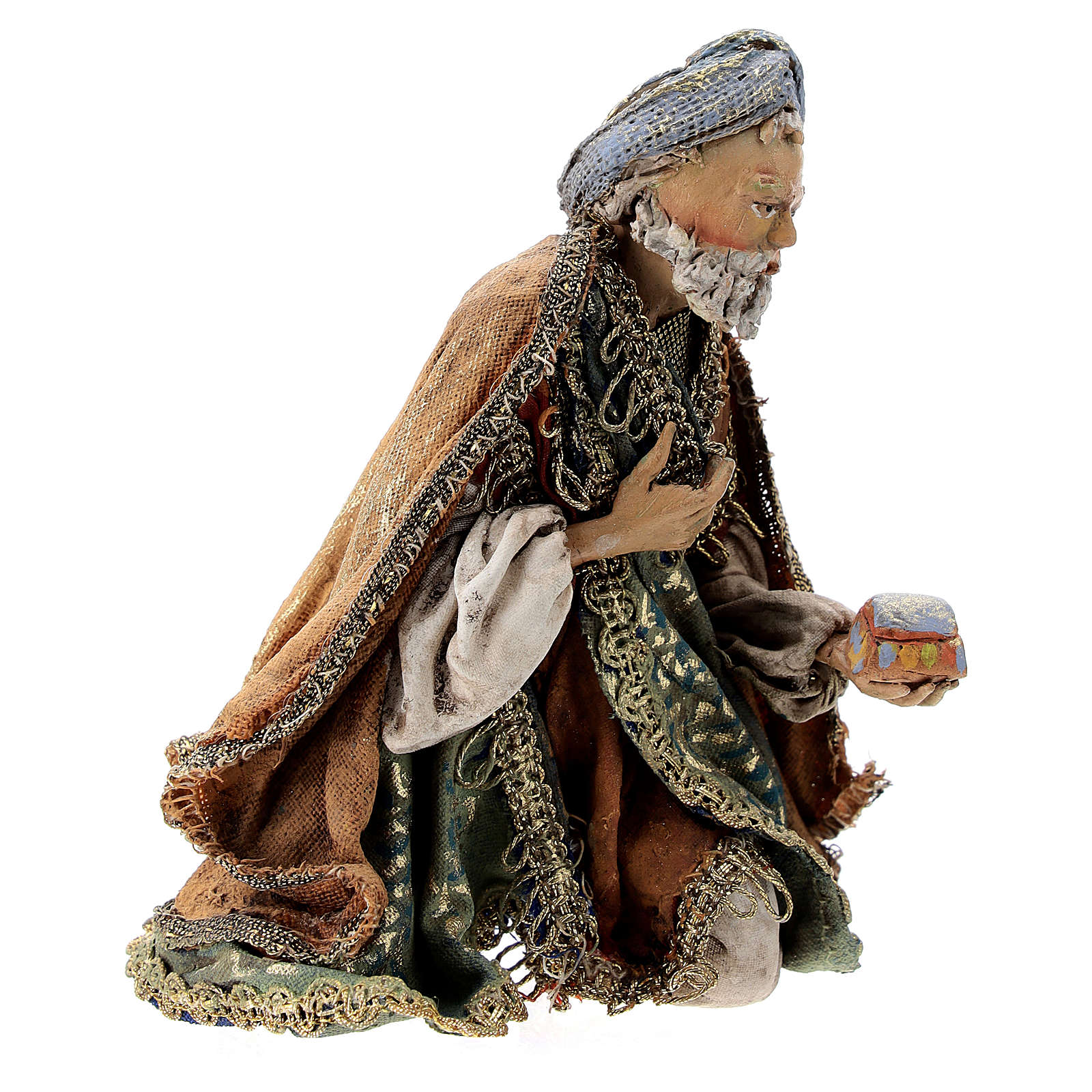 Nativity scene figurine, Kneeling King by Angela Tripi 13 cm 4