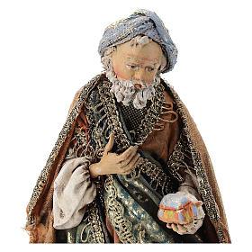 Nativity scene figurine, Kneeling King by Angela Tripi 13 cm s2